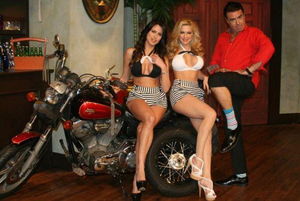 Él que no se resistió a subirse a la moto fue Gabriel, aunque la jauría...