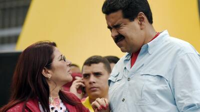Cilia Flores y Nicolás Maduro