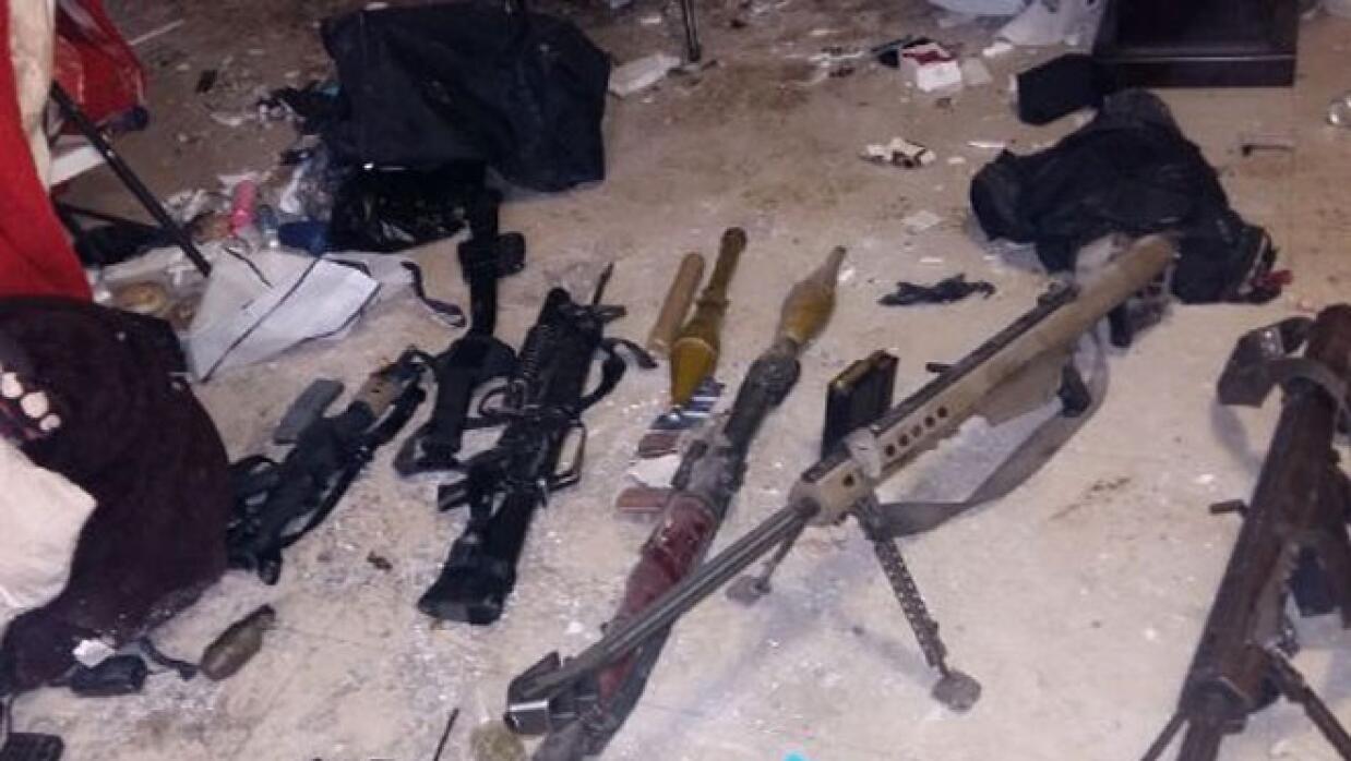 Algunas de las armas incautadas