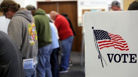 Un recinto de votación en California, durante la última el...
