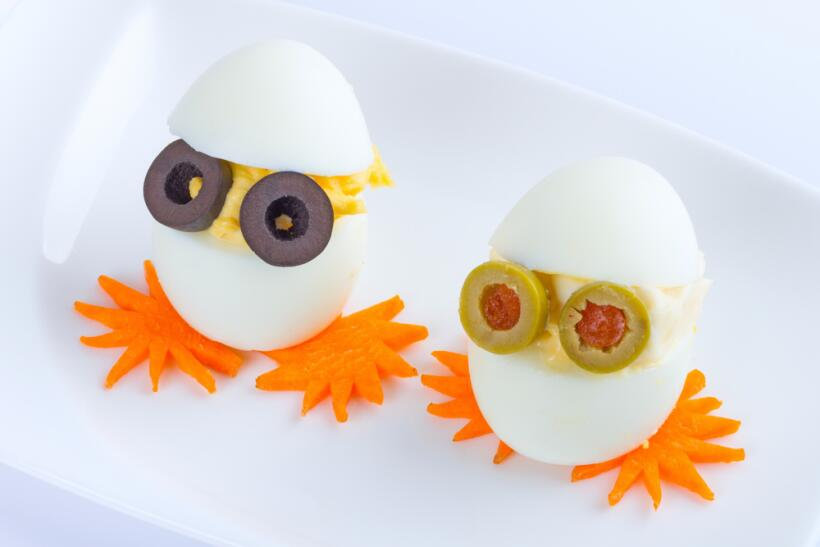 lunch con huevo