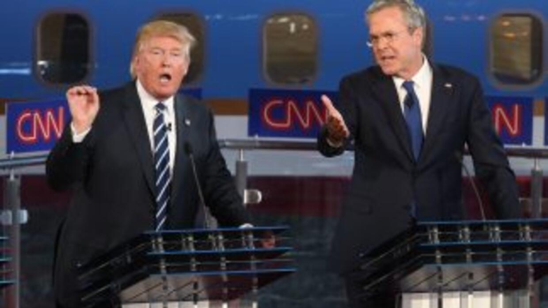 Trump y Bush en el segundo debate republicano