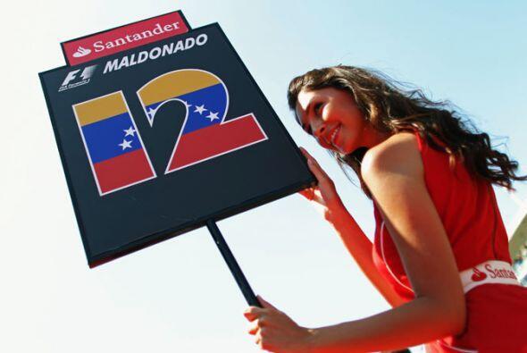 Esta bella morena fue la encargada de acompañar al venezolano Pastor Mal...