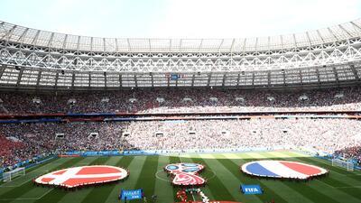 En fotos: Dinamarca y Francia empataron en el primer partido sin goles del Mundial