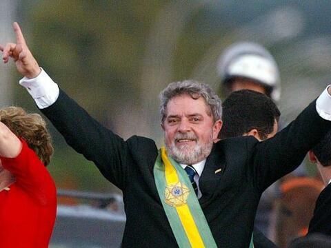 El traje que llevó el presidente brasileño, Luis Inacio Lu...