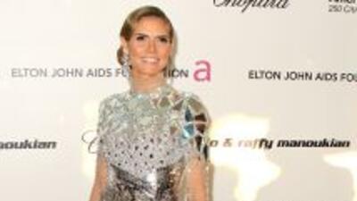 Heidi Klum a su llegada a la fiesta de Elton John después del Oscar, el...