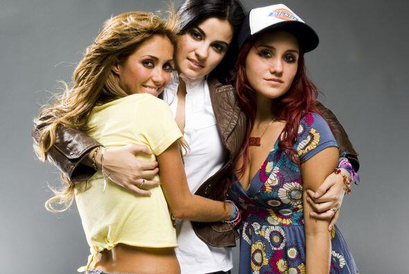 Con Anahí y Maité en RBD