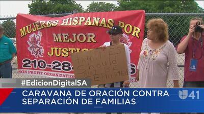 Caravana de oración contra la separación de familias sale de San Antonio