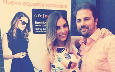 Gloria Aura y su novio Pablo Calasso.