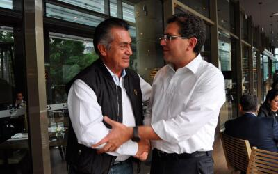 Jaime Rodriguez 'El Bronco' y Armando Ríos Piter se reunieron en...