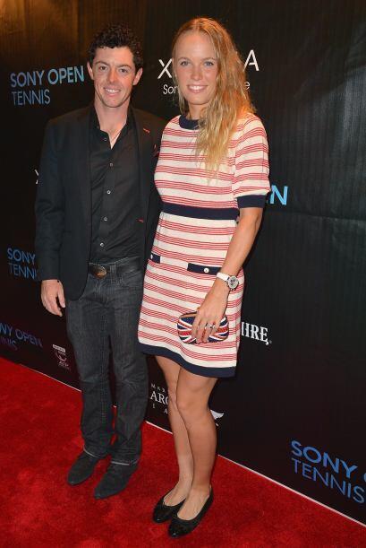 Caroline Wozniacki llegó acompañada de su novio, el famoso golfista Rory...