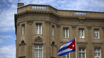 La sede de la embajada cubana en Washington.