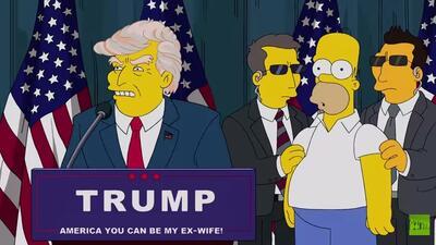 """""""Los Simpson"""" se burlan de Donald Trump"""