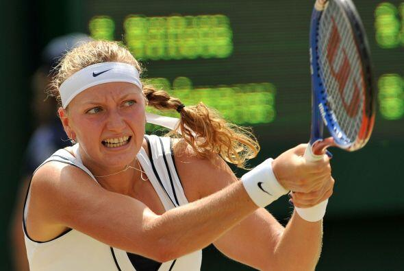 Petra Kvitova, semifinalista el año pasado, arrasó 6-0, 6-...