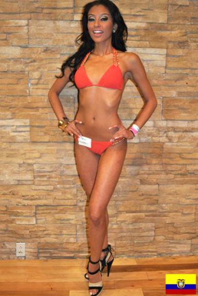 Esta joven de 24 años está feliz de representar a los ecuatorianos.
