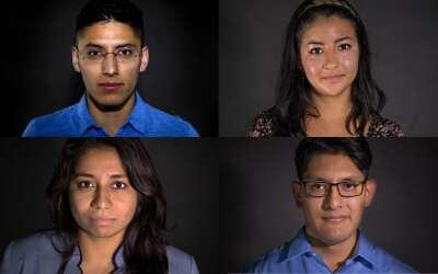 Los dreamers Justino Mora, Itzel Guillen, Allyson Duarte y Irving Hern&a...