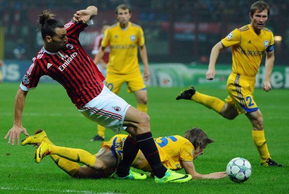 El equipo visitante nunca pudo imponer su juego y los 'rossoneri' maneja...