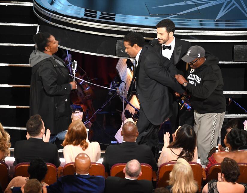 """Auxiliado por Jimmy Kimmel, """"Gary, de Chicago"""" buscó a Denzel..."""