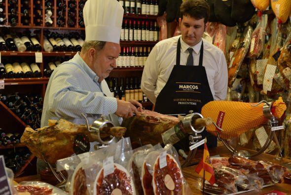El trozó que comió Raúl de Molina fue de un jamón ibérico de Jabugo.