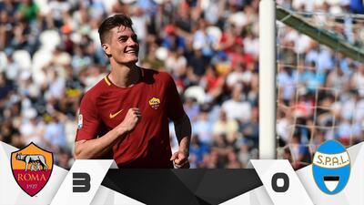 Roma se prepara para la Champions con goleada sobre el Spal