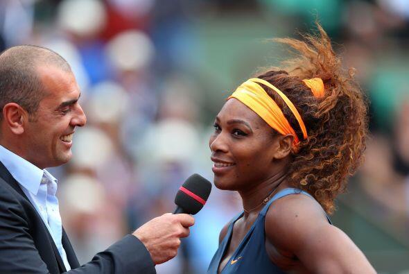 Serena agradeció al final de su partido el apoyo del públi...