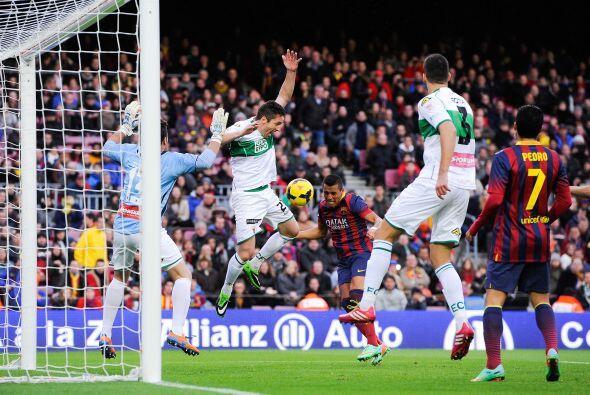 Alexis estaba muy participativo y estuvo cerca de marcar otro gol.