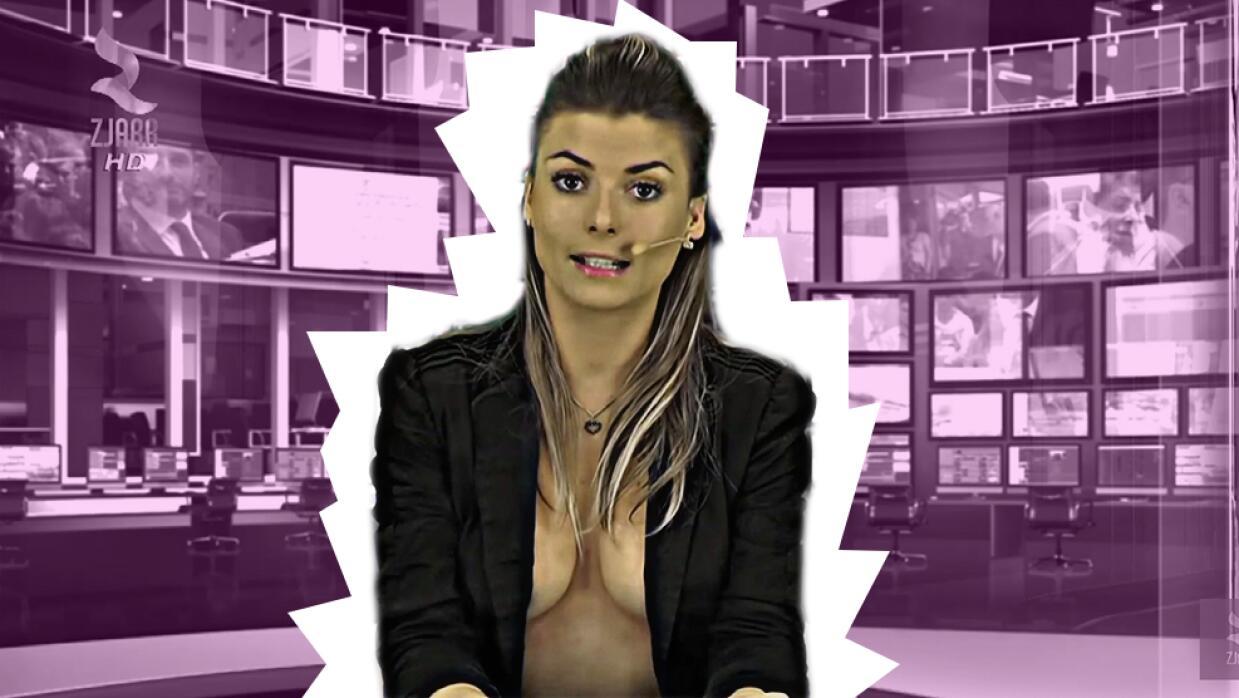 Reportera desnuda