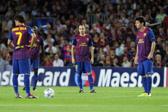 Los jugadores del Barcelona no podía creer ir perdieron, en su casa y ta...