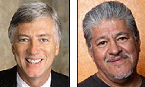 Los candidatos del Partido Justicia: Rocky Anderson y Luiz Rodriguez. Ab...