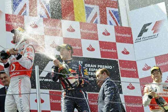 El podio del Gran Premio de España lo completó el inglés Jenson Button,...