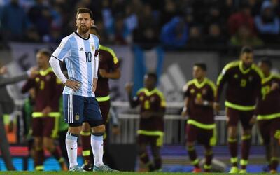 Argentina empató 1-1 con Venezuela en el Monumental.