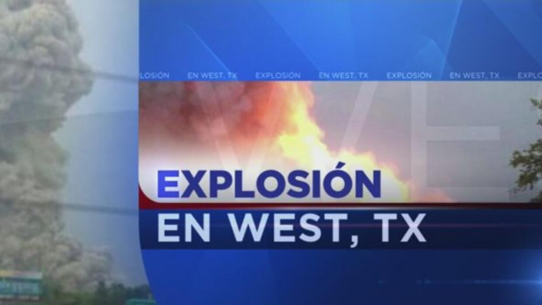 La explosión en una planta de fertilizantes ubicada en West, cerca de Wa...
