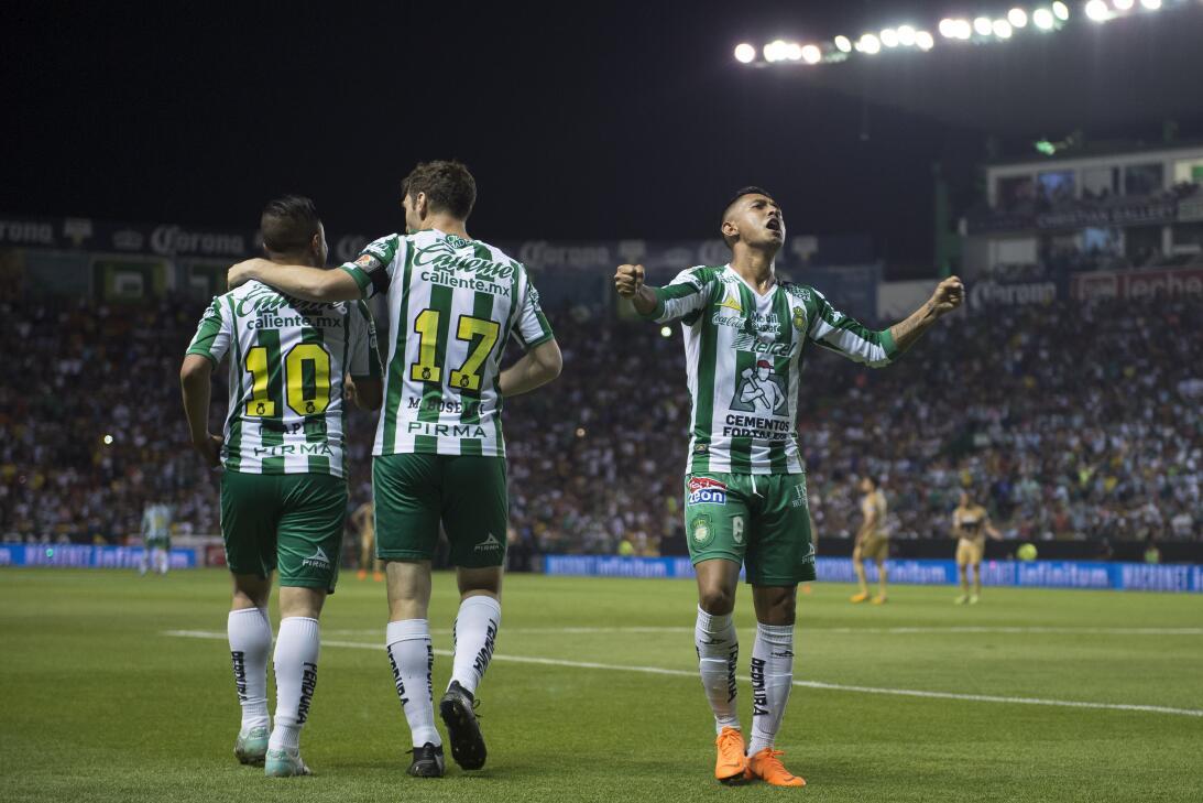 León 3-0 Pumas: Luis Montes, Elías Hernández y Mauro Boselli acabaron co...