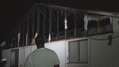 Un relámpago destruyó la vivienda de una familia en Fort Worth