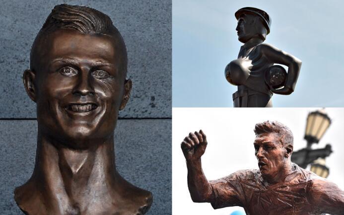 Ídolos del fútbol inmortalizados con esculturas alrededor del mundo esta...