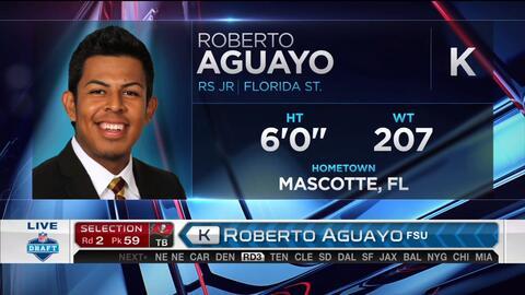 El histórico anuncio, los Buccaneers seleccionan al mexicano Roberto Aguayo