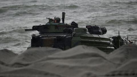 Filipinas y EEUU realizaron hace poco ejercicios militares en el Mar de...