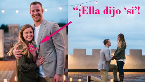 El jugador de NFL Carson Wentz y su novia Maddie se prometieron en feber...