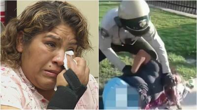 Entre lágrimas, una hispana recuerda la agresión que sufrió por parte de un policía por vender flores en la calle