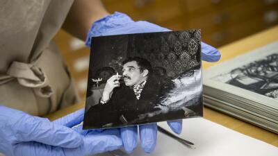 Una de las fotografías del archivo de Gabriel García Márquez que se cons...
