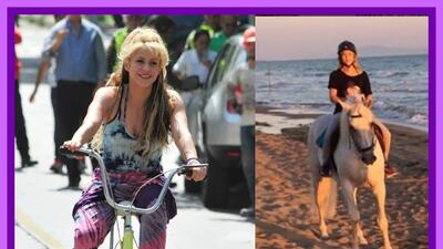 Shakira soltó la bicicleta y se montó en caballo