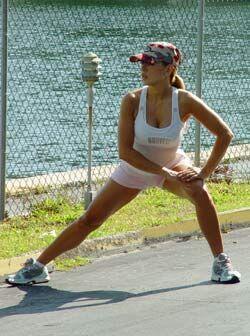 Un poco de ejercicio para las piernas...