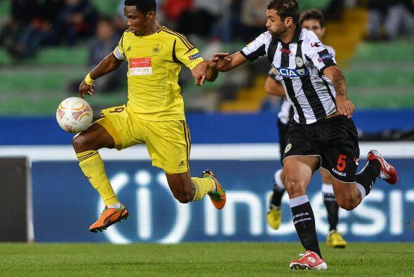 El Anzhi Makhachkala de Samuel Eto'o casi se sale de casa del Udinese co...