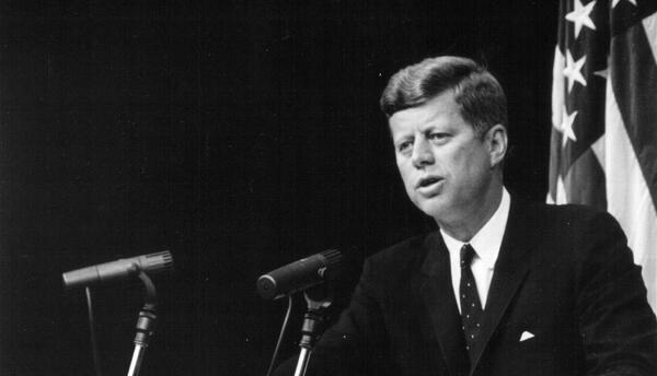 El expresidente John F. Kennedy