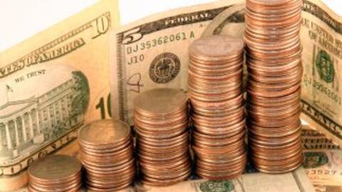Organiza las monedas por centavos, monedas de cinco, diez y veinticinco...