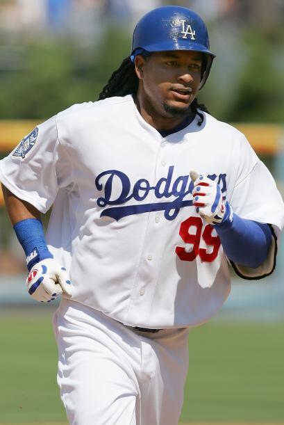 Manny Ramírez llegó con los Dodgers en 2008 y, gracias a su desempeño, e...