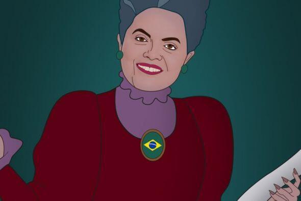 La presidenta de Brasil, Dilma Rousseff es la madrastra de Cenicienta. C...