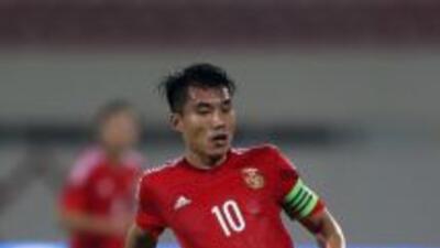 Zheng Zhi hizo el primer gol a Paraguay