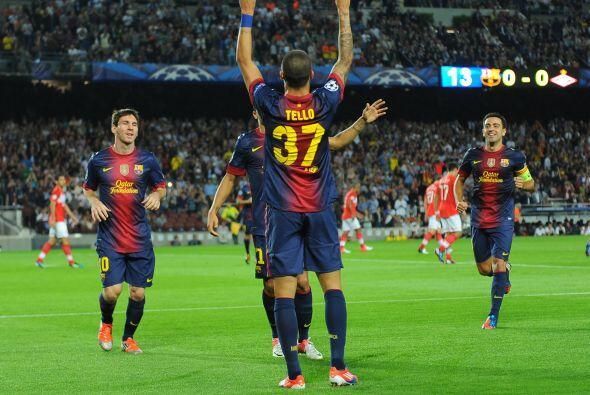 Cuando se cumplieron 14 minutos disputados llegó el gol de Cristian Tell...