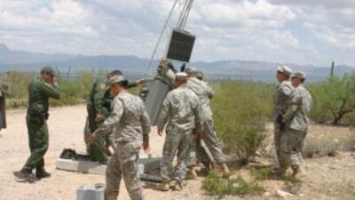 Con la asistencia de la Guardia Nacional, fueron instaladas 10 luces de...